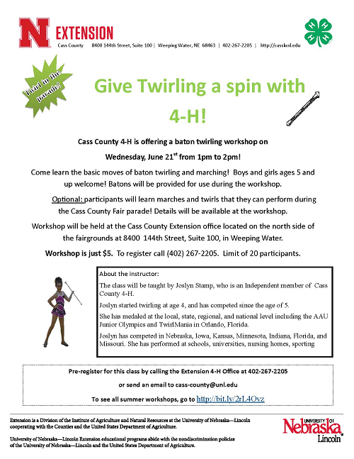 9 Give Twirling a Spin with 4 H