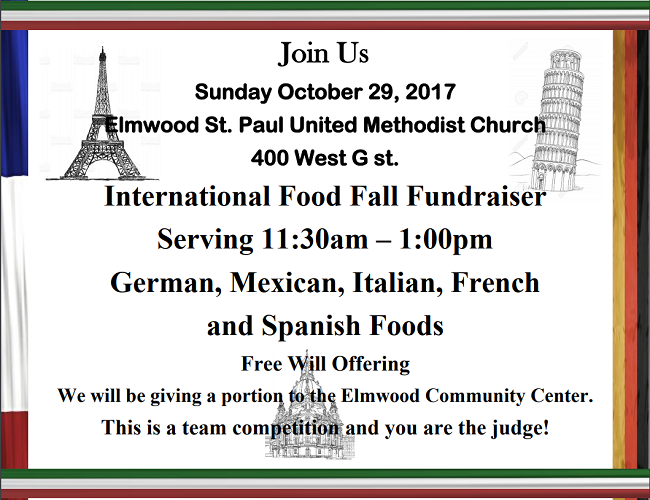 Intl Food Fall Fundraiser