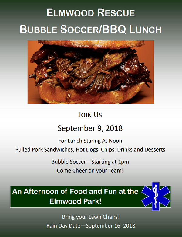 Bubble Soccer Elmwood Food