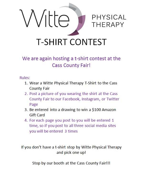 Witte Fair Tshirt Contest