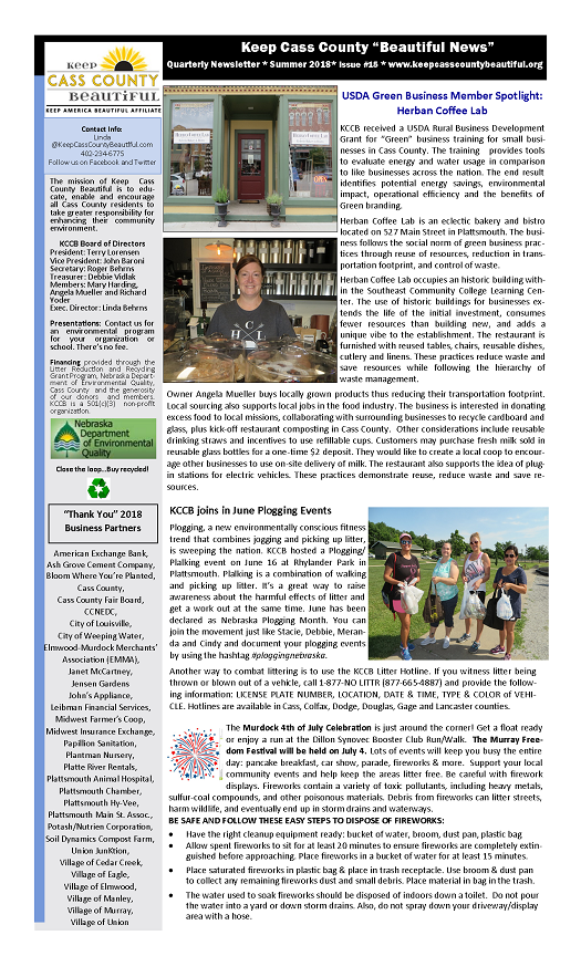 2018 Summer Newsletter1