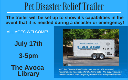 Pet Disaster Relief Trailer AL 0717