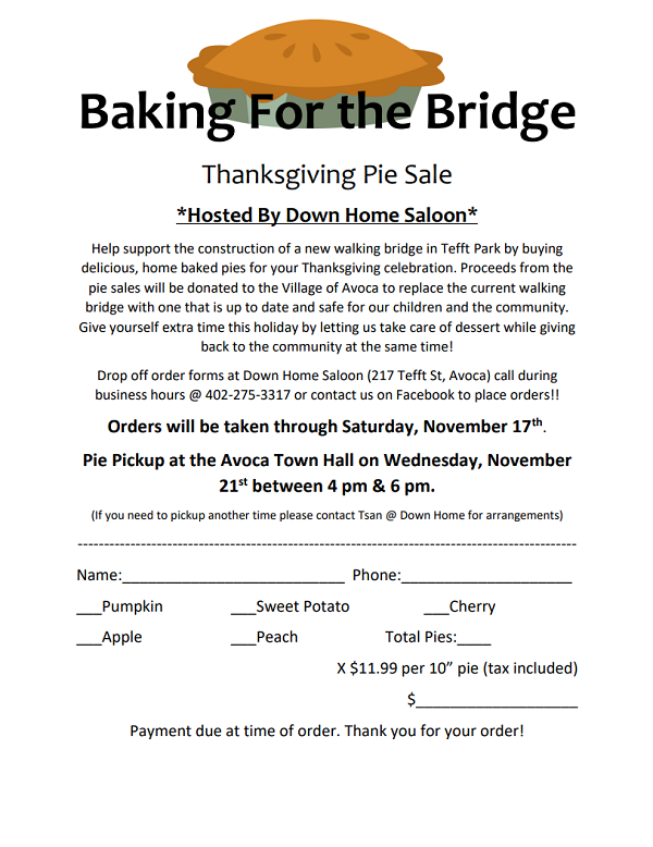 Baking For the Bridge