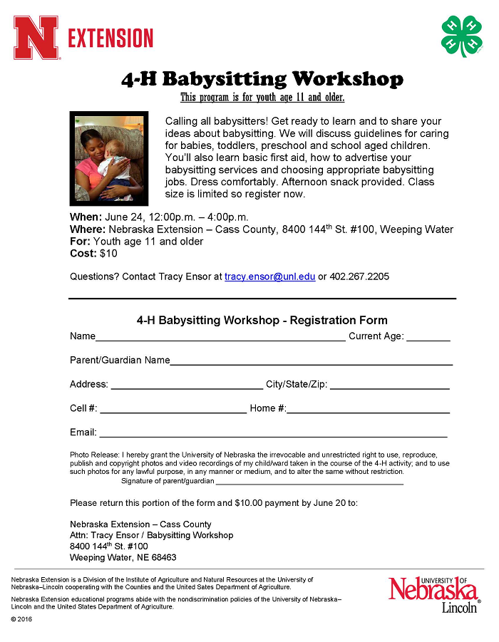 2019 Babysitting Workshop