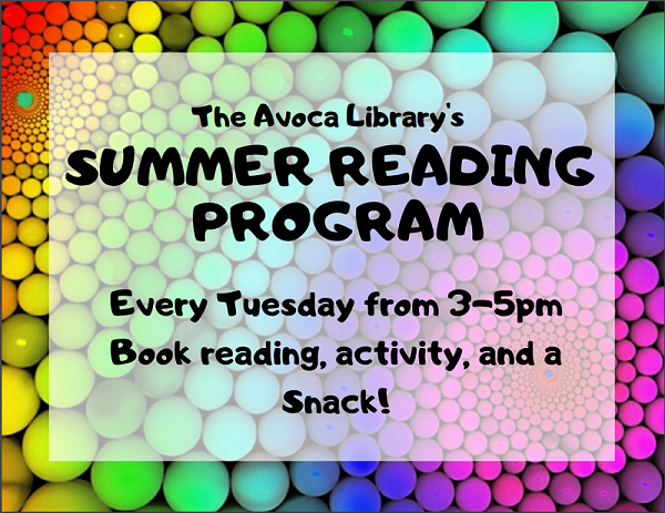 Avoca Library Reading program