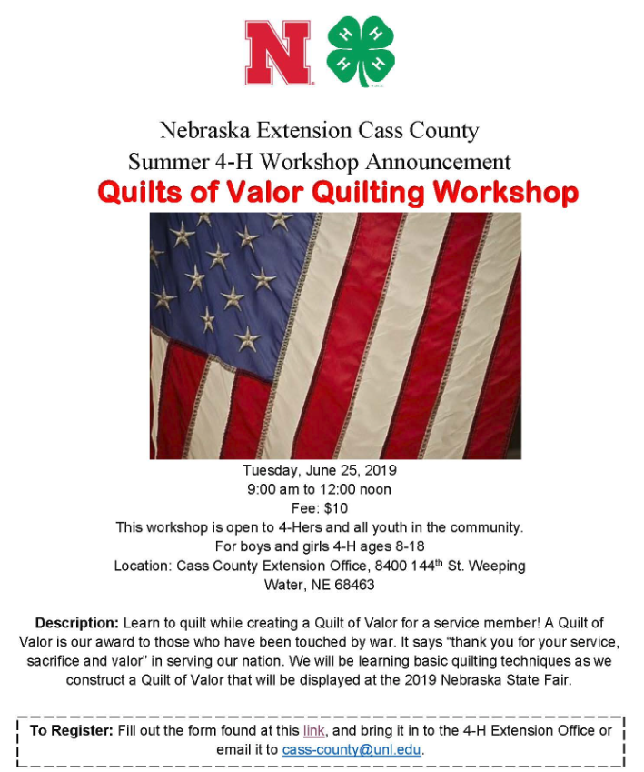 Quilts of Valor Wkshop