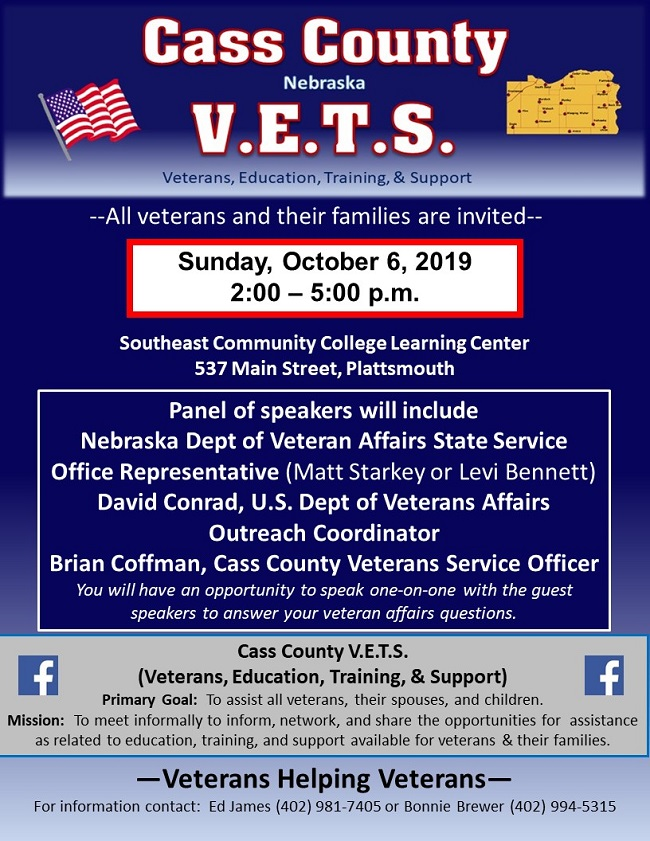 Vets October 6 2019 Meeting Flyer